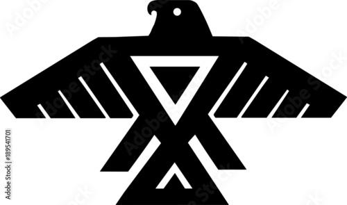 Canvas Print American Indian Thunderbird Totem