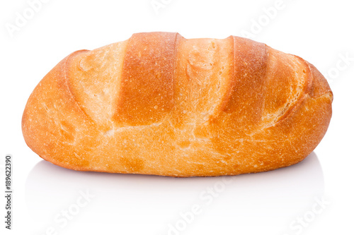 Fotografering One loaf of bread isolated on white background