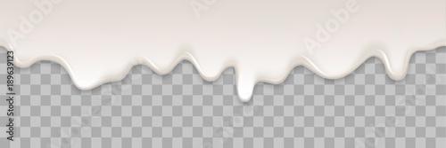 Fototapeta Yogurt creamy liquid or yoghurt cream melt splash flowing background