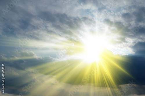 Rays of sunshine in the clouds, Holy Spirit Fototapet