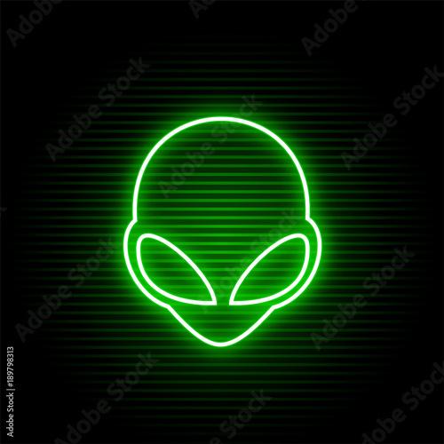 Foto neon alien face