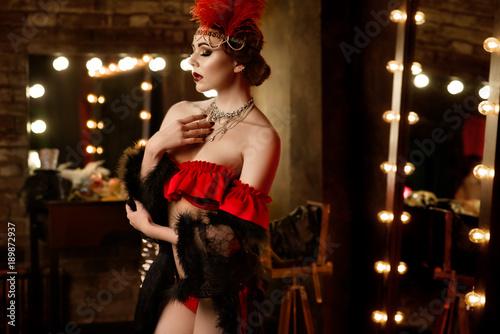 Tablou Canvas Pretty sexy girl in cabaret