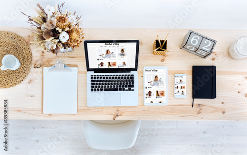 Responsive blog website