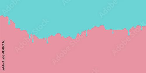 Slika na platnu Blue paint dripping on the pink wall