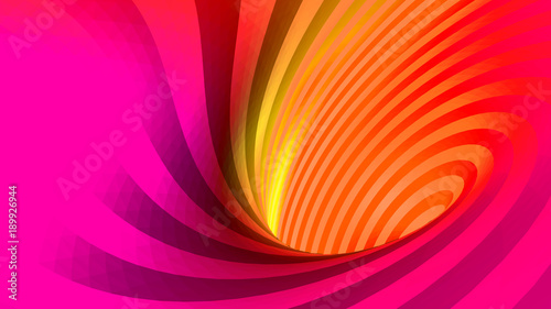 vector optical illusion, twisted abstraction, background of colored triangles