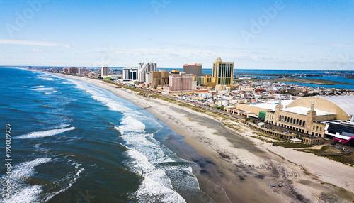 Obraz na plátne Atlantic city waterline aerial