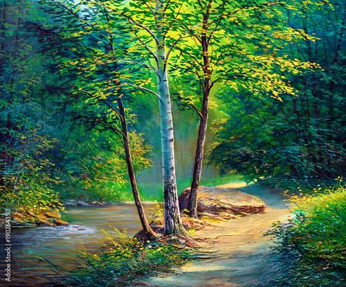 Krajobraz malarstwo olejne