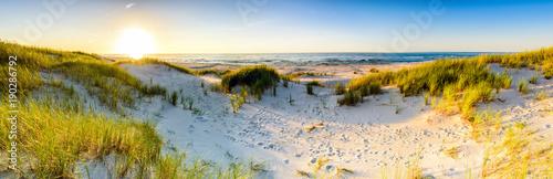 Fototapeta premium Wybrzeże wydmy plaża morze, panorama