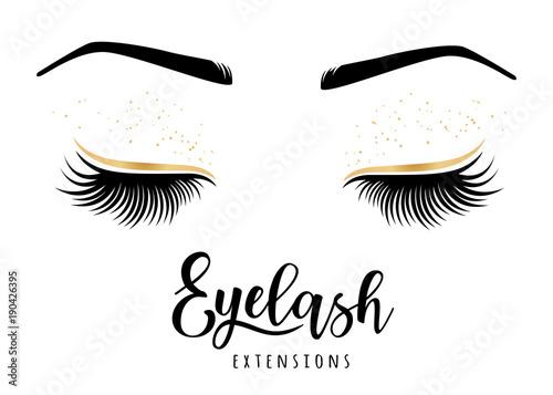 Eyelash extensions logo Fototapeta