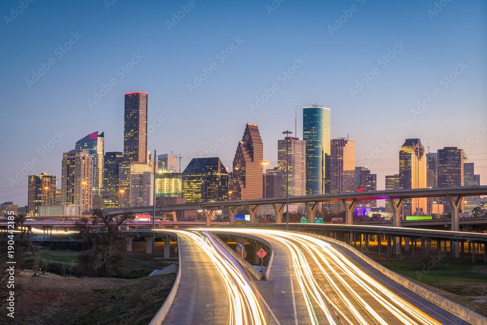 Houston, Texas, USA Skyline and Highway