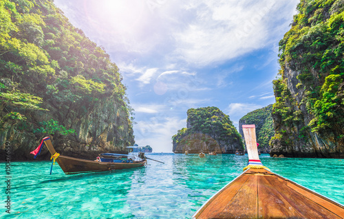 Платно View of Loh Samah Bay, Phi Phi island, Thailand
