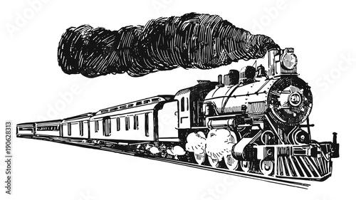 Canvas Print Eisenbahn Dampflokomotive-railway steam locomotive