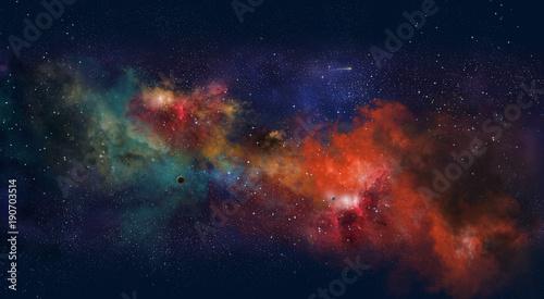 Fotografija Space illustration with a color glow