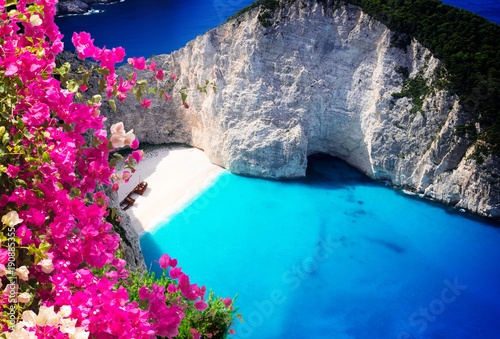 Obraz na plátně Beautiful lanscape of Zakinthos island