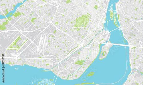 Fotografie, Obraz Urban vector city map of Montreal, Canada