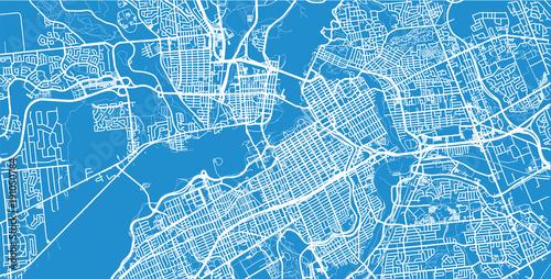 Obraz na plátně Urban vector city map of Ottawa, Canada