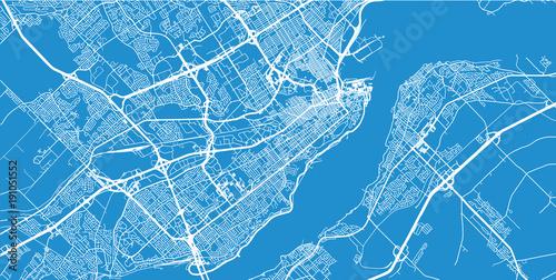 Fotografie, Obraz Urban vector city map of Quebec, Canada