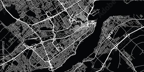 Fototapeta Urban vector city map of Quebec, Canada