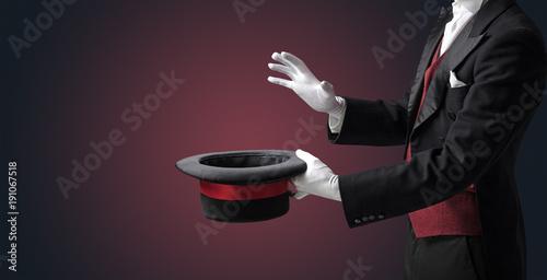 Billede på lærred Illusionist hand want's to conjure something