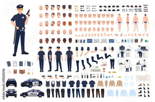 Carta da parati Policeman creation set or DIY kit