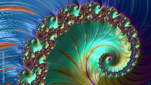 Abstract Computer generated fractal design. A fractal is a never-ending pattern. Fractals are infinitely complex patterns that are self-similar across different scales.