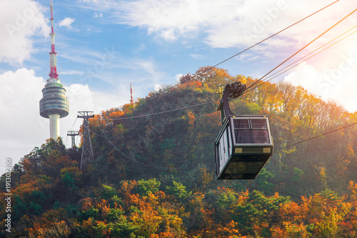 Cable car to Seoul N tower