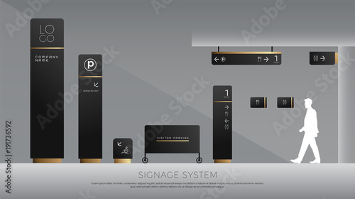 Photo exterior and interior signage concept