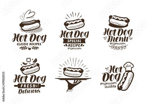 Wallpaper Mural Hot dog logo or label