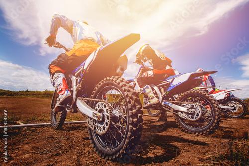 Wallpaper Mural Dirtbike. Team Motocross on bike motorcycle is start road.