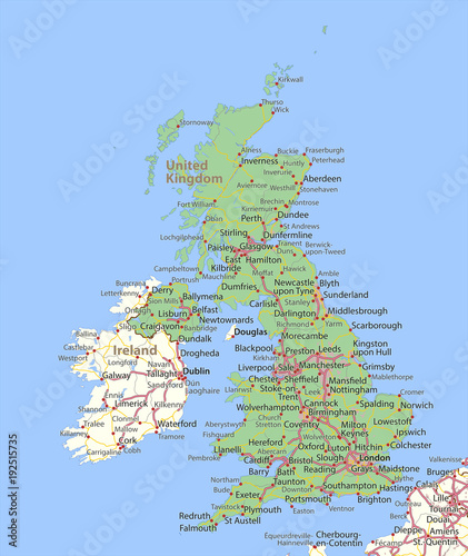 Leinwand Poster United Kingdom-World-Countries-VectorMap-A