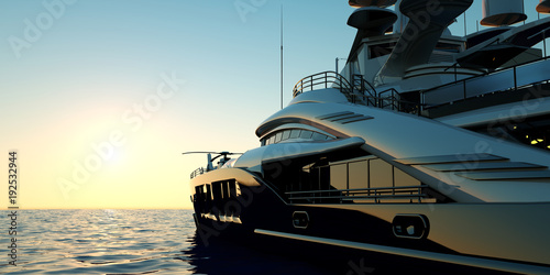 Fotografia Extremely detailed and realistic high resolution 3D illustration of a luxury sup