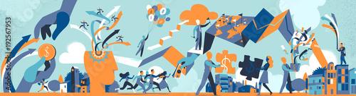Photographie Il Sistema di Business Contemporaneo
