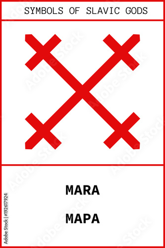 Obraz na plátně Symbol of MARA ancient slavic god