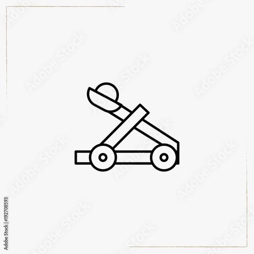 Photo catapult line icon