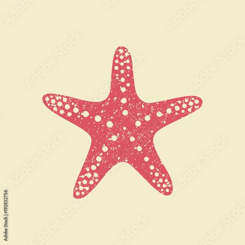 Obraz na plátně Starfish in flat style.