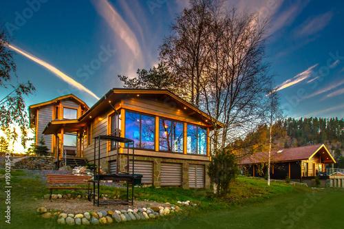 Fototapeta Cottage village
