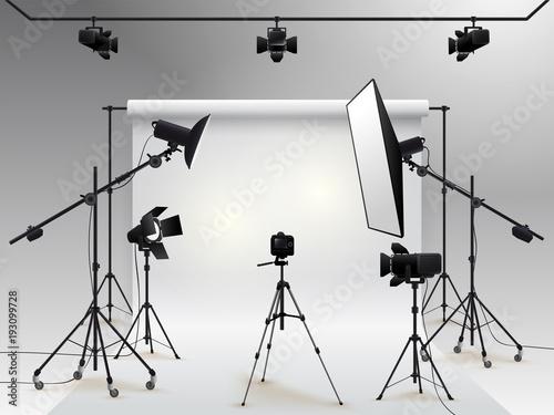 Obraz na płótnie Photography studio vector