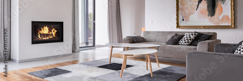 Fotografia Living room with fireplace
