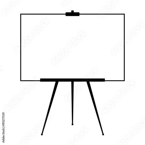 Canvas Print Advertising stand or flip chart or blank artist easel isolated on white background