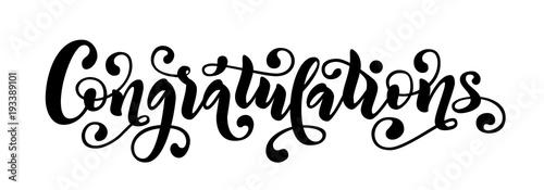 Valokuva Congratulations hand lettering quote