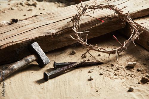Valokuva Easter background depicting the crucifixion