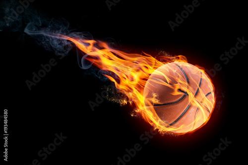 Photo basketball on fire