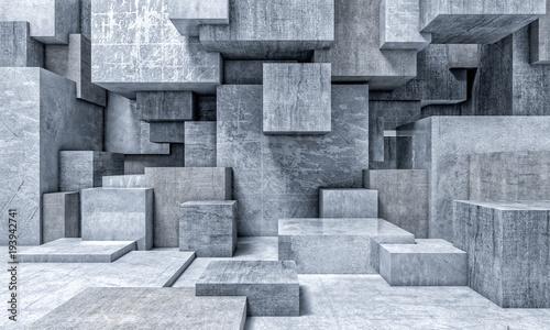 Naklejka na szafę geometryczne tło 3d