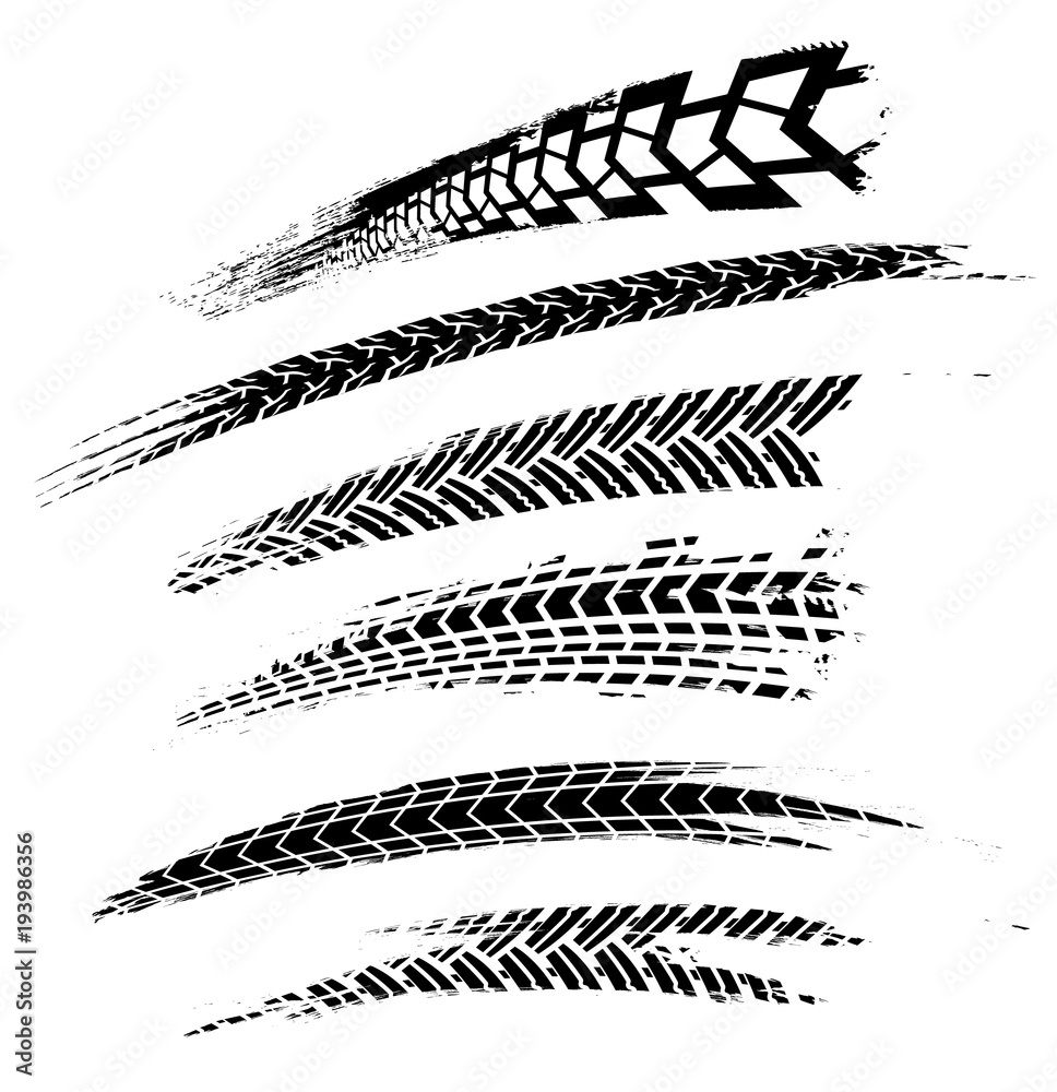 Tire Tracks Elements-01 <span>plik: #193986356 | autor: Double Brain</span>