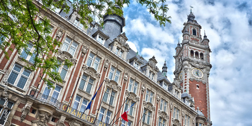 Valokuvatapetti The belfry of the Chamber of Commerce - Lille, North of France