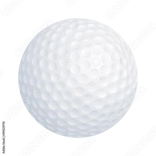 Vector golf ball on white background Fototapet