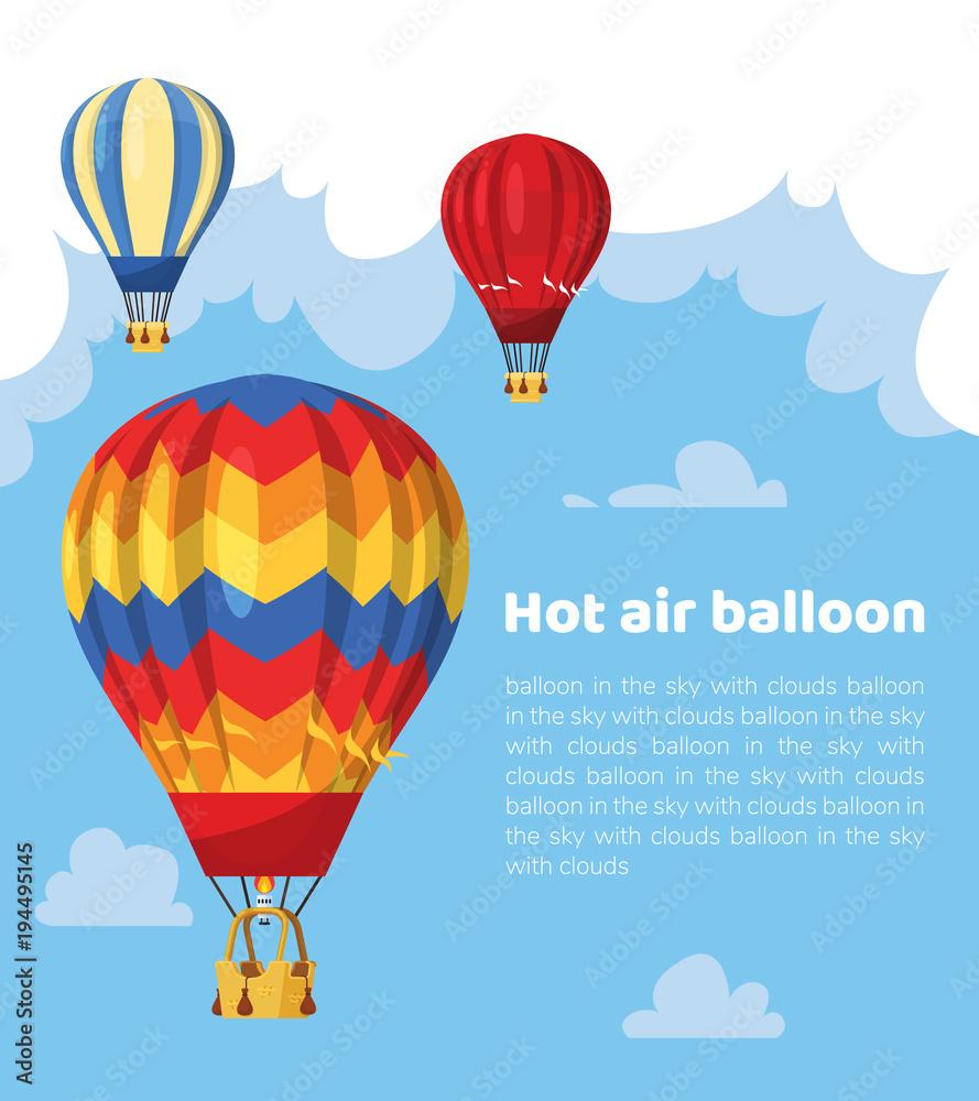 Flat hot air balloon <span>plik: #194495145 | autor: Igor</span>