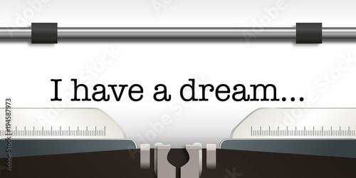 Canvas-taulu Machine a Ecrire - I Have a Dream
