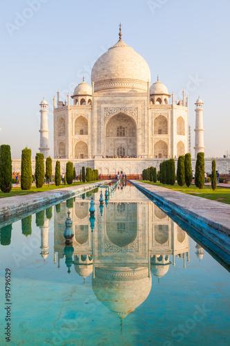 Fotografie, Obraz Taj Mahal am Morgen, Indien