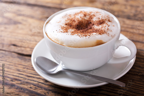 Valokuvatapetti Cup of cappuccino coffee